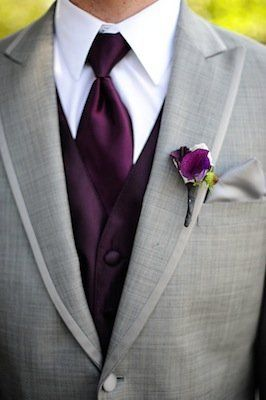 Purple tie and vest