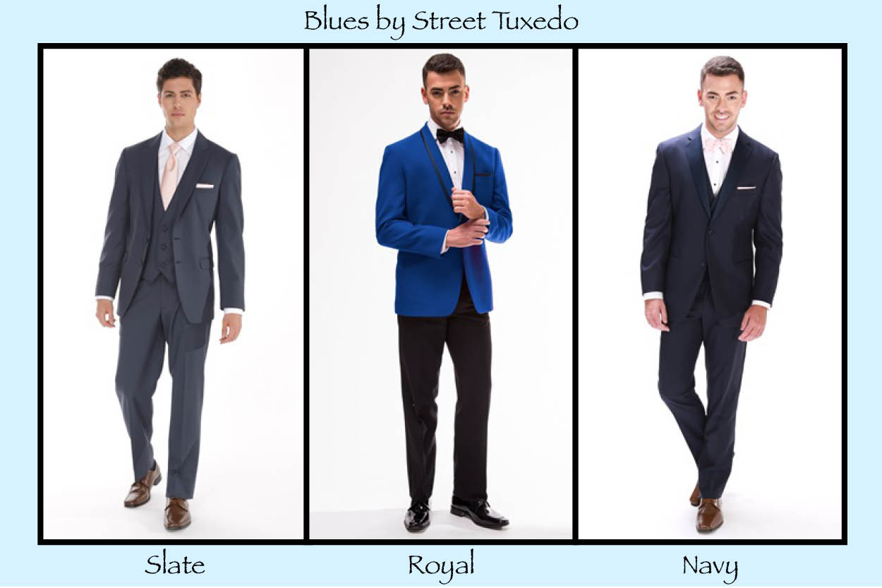 Street Tuxedo - Who says you have to wear black? Blue and Grey is in!
