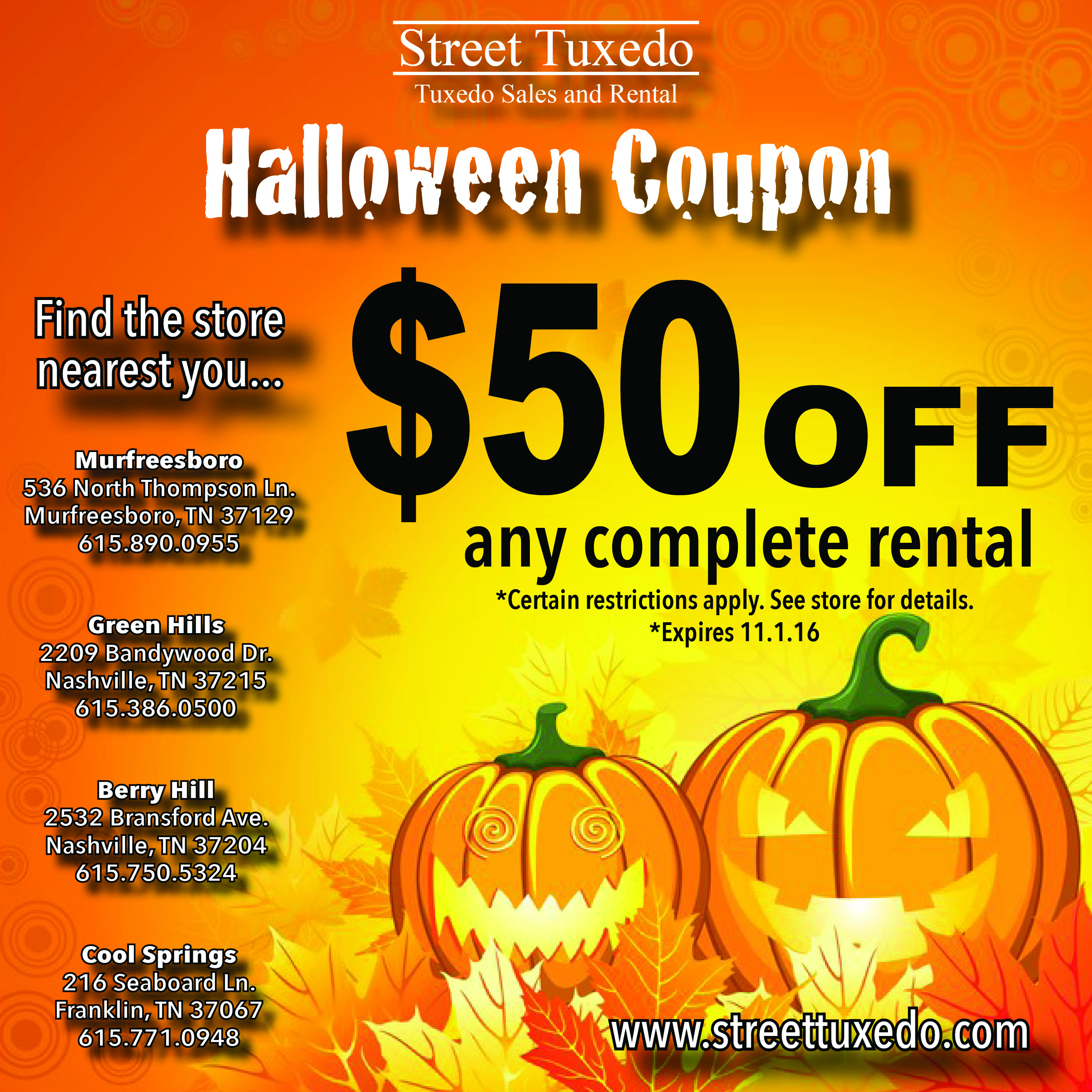 Halloween Coupon