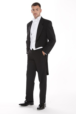 Black Full Dress Peak Tuxedo