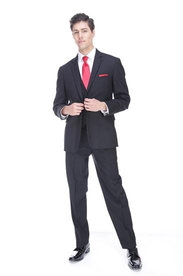 Modern Fit Black Suit