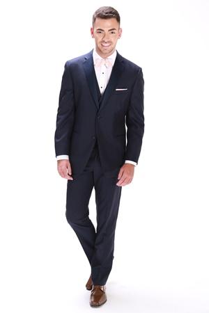 Navy slim-fit tuxedo