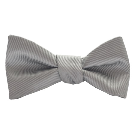 Smoke Modern Solid Bow Tie