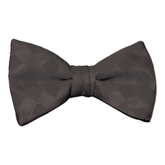 Black Patterned Bow Tie