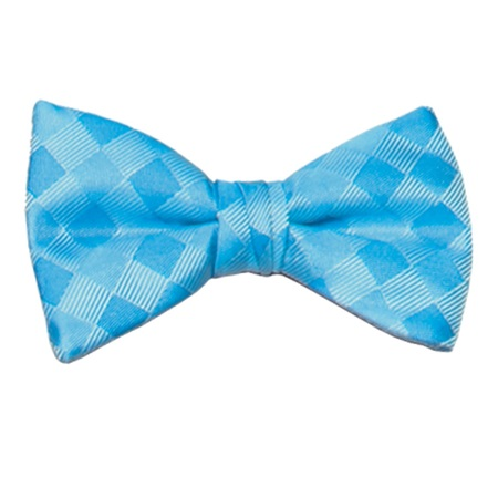 Turquoise Patterned Bow Tie