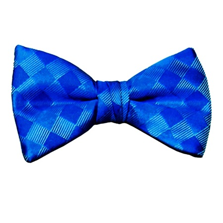 Royal Blue Patterned Bow Tie