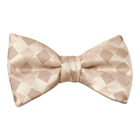 Mocha Patterned Bow Tie