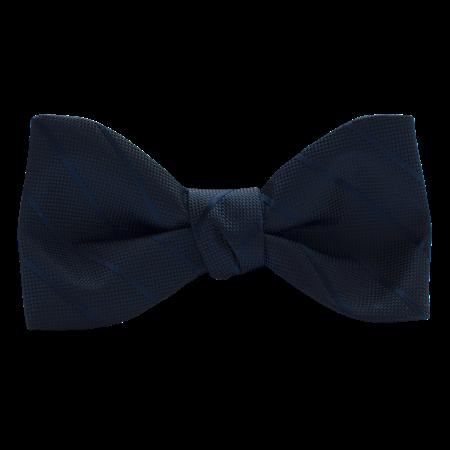 Dark Navy Modern Solid Bow Tie