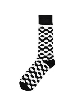 Black and White Swirl Sock