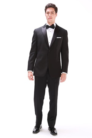 Black Slim Fit Ike Tuxedo