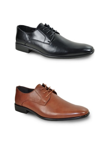 Faux Leather Oxford Dress Shoes