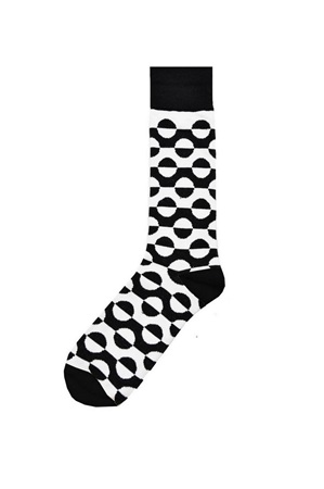 Black and White Swirl Sock