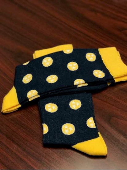 The Gnash Predators Socks in Navy and Gold