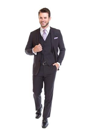 Medium Grey Suit by David Major Select - Retail Suit - Rental Suit - Purchase Suit - Street Tuxedo - Properly Suited
