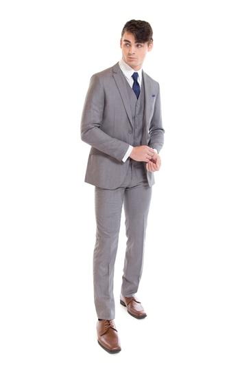 Light Grey Suit by David Major Select - Retail Suit - Rental Suit - Street Tuxedo