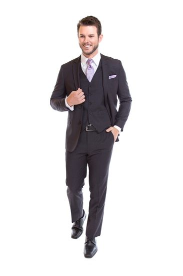 Medium Grey Suit by David Major Select - Properly Suited - Street Tuxedo - Retail Suit - Rental Suit