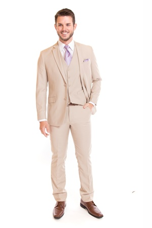 Tan Suit by David Major Select - Street Tuxedo - Properly Suited - Retail Suit - Rental Suit