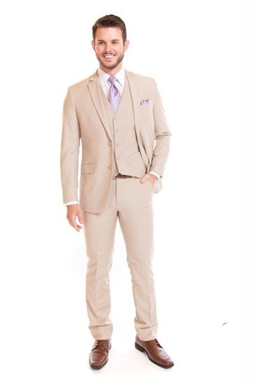 Tan Suit by David Major Select - Street Tuxedo - Properly Suited - Retail Suit - Rental Suit