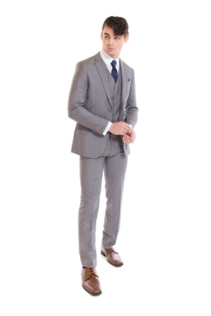 Light Grey Suit - Rental Suit - Retail Suit - Wedding Suits - Street Tuxedo - Properly Suited - David Major Select