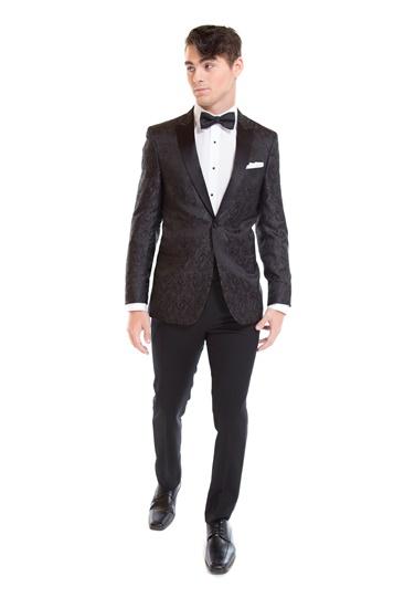 Charcoal Paisley Tuxedo Jacket - Charcoal - Paisley - Fun Coat - Tuxedo Rental - Select Formalwear
