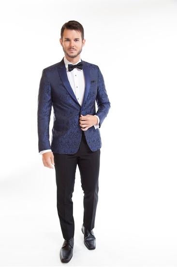 Blue Paisley Tuxedo Jacket - Tuxedo Rental - Tuxedo Retail - Street Tuxedo - Select Formalwear