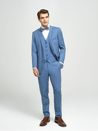 Cornflower Blue Tuxedo Suit, Street Tuxedo, Select Formalwear, Make It Formal, Blue Menswear, Prom, Graduation, Wedding